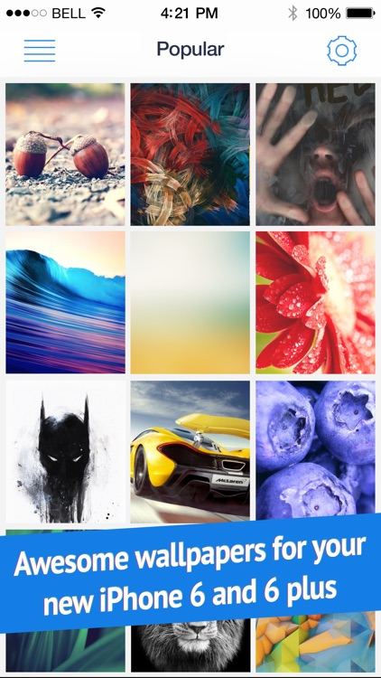 Wallpapers for iPhone 6 and 6 Plus (Retina HD ready parallax backgrounds)