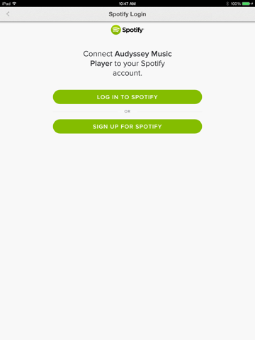 Audyssey Music Player-ipad-1