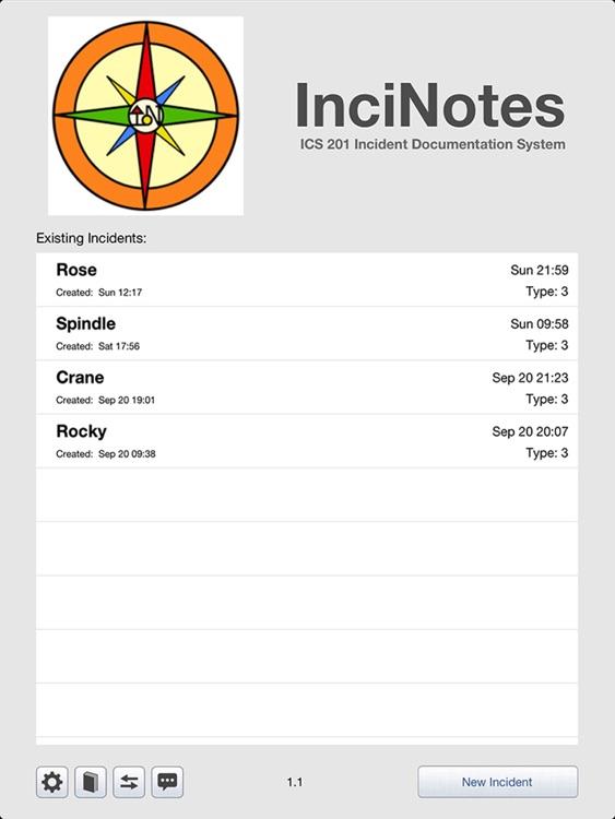 InciNotes screenshot-0