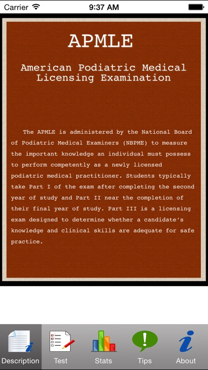 APMLE Tests