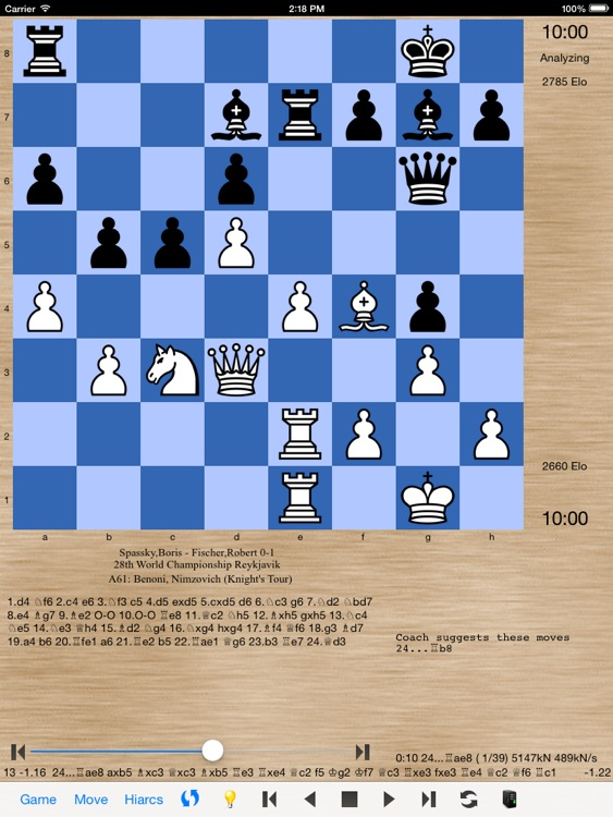 HIARCS Chess for iPad