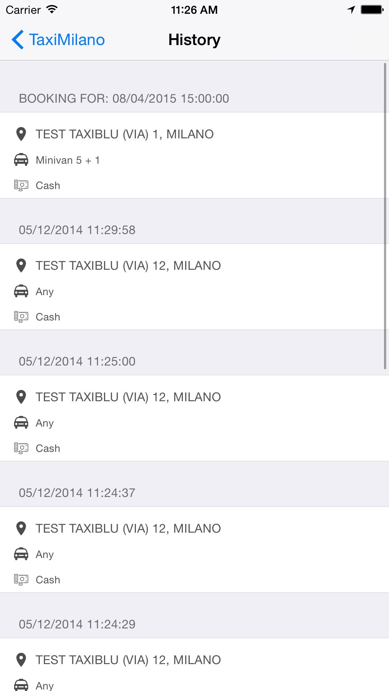 TaxiMilano Screenshot