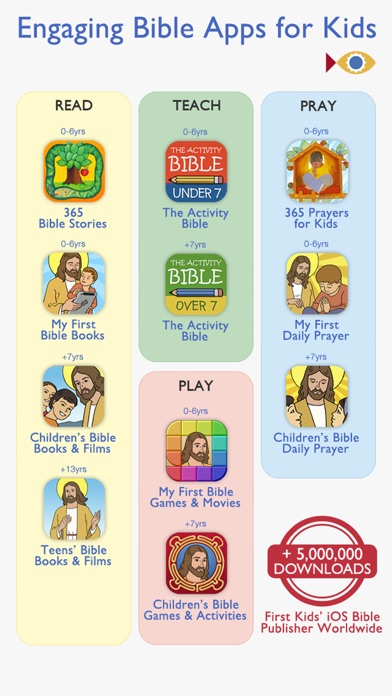 Screenshot for 365 Bible Stories PREMIUM – A daily illustrated Bible short story for your Kid, Christian Family, Church and Sunday School in United States App Store