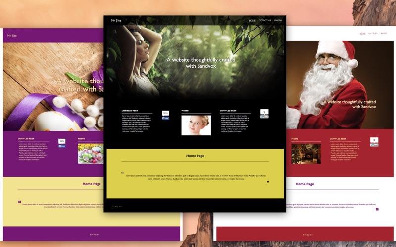 Templates For Sandvox review screenshots