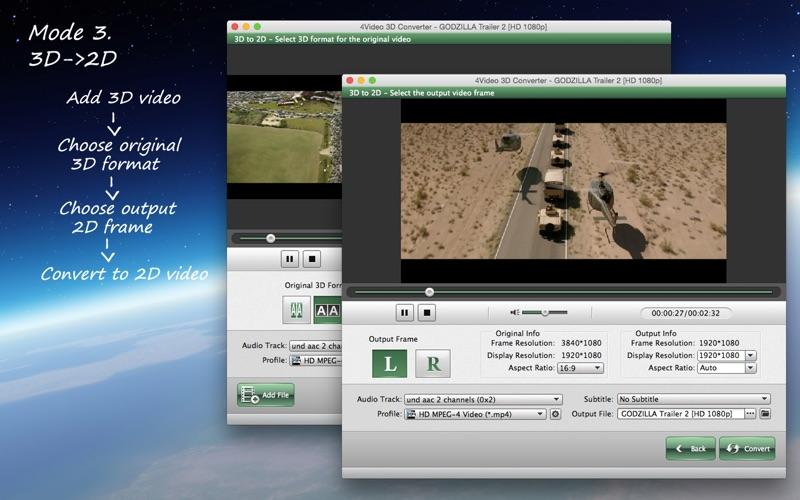 4Video 3D Converter - 2D 到 3D for Mac
