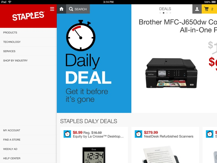 Staples for iPad - Daily Deals & Discount Shopping on Office Supplies, Furniture & Electronics