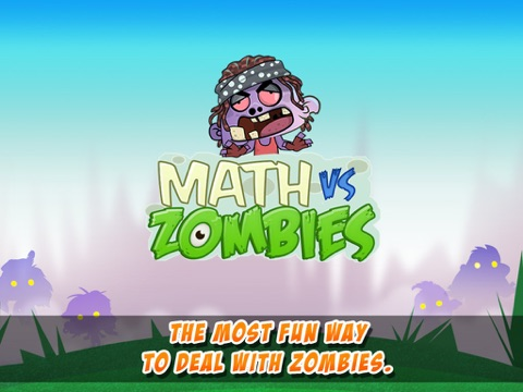 Math Vs Zombies - Math Games Grade K - 5 screenshot