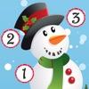 アクティブ! クリスマスについての子供のためのゲーム: 数えることを学ぶ 数字1-10 サンタクロースとの