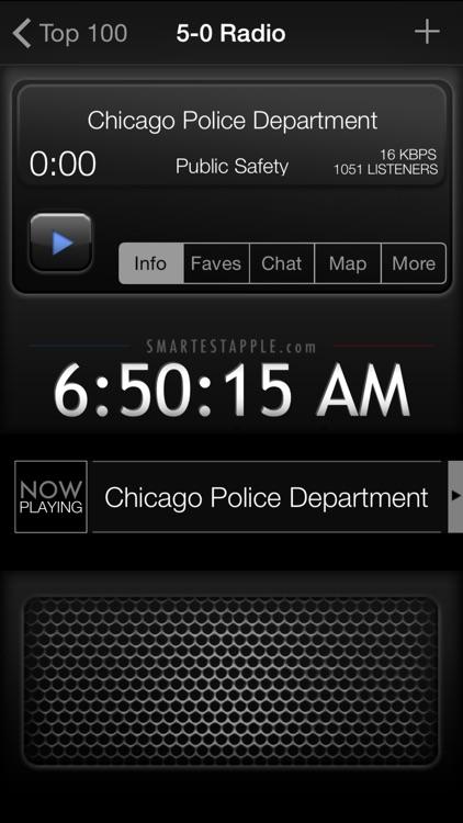 5-0 Radio Pro Police Scanner (Extra Feeds)