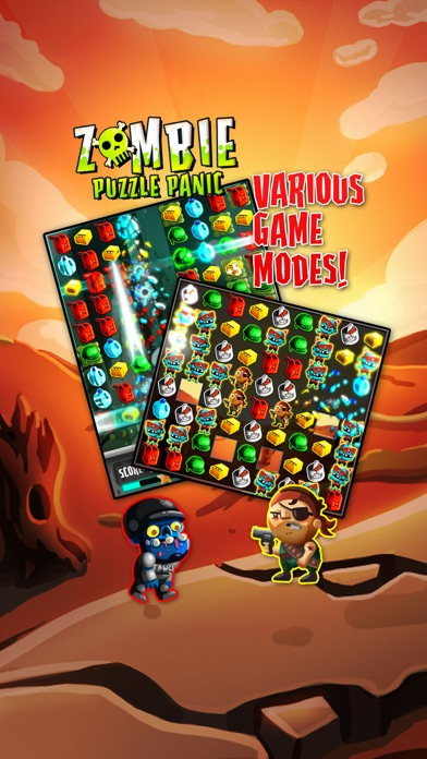 Zombie Puzzle Panic Screenshot