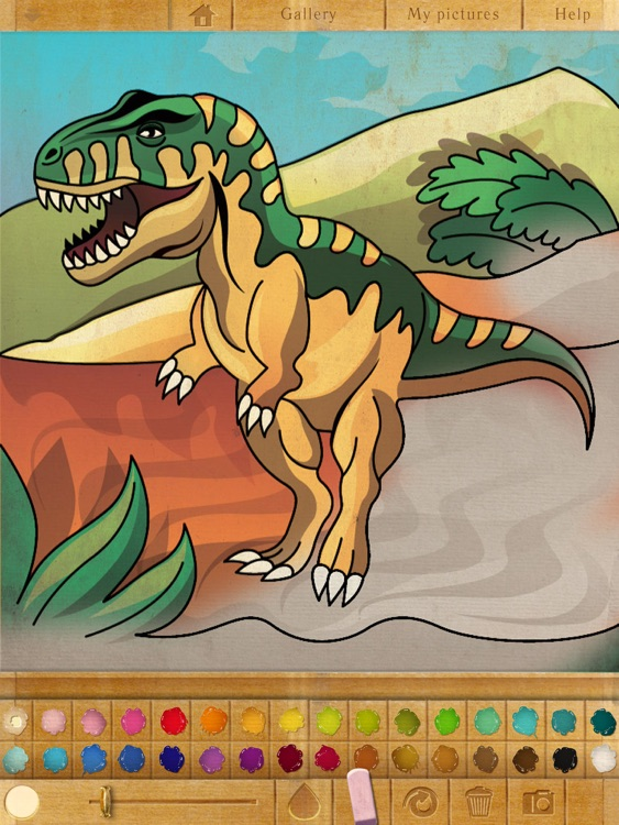 Coloring Book. Dinosaurs. Lite