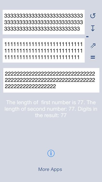 Matika03 : Subtraction of big numbers