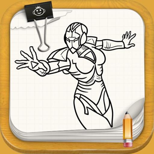 Learn To Draw : Fantastic Women Super Heroes