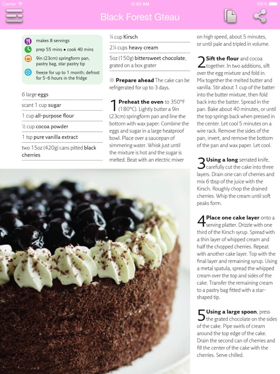 Dessert & Cake Recipes for iPad screenshot-3