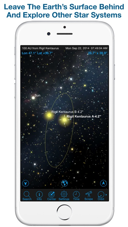 SkySafari 4 Pro: Professional Telescope Astronomy!  Explore Sun, Moon, Mars, Stars, Planets, and Satellites!  Go where NASA space missions have not! screenshot-4