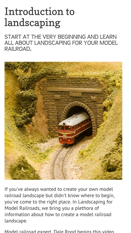Landscape your Model Railroad