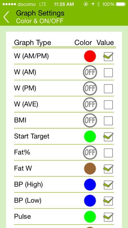 Health Report (Weight monitor) screenshot-3