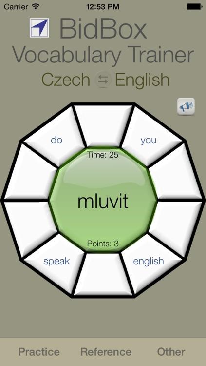 Vocabulary Trainer: English - Czech screenshot-3