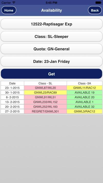 Rail PNR Inquiry - IRCTC Info screenshot-3