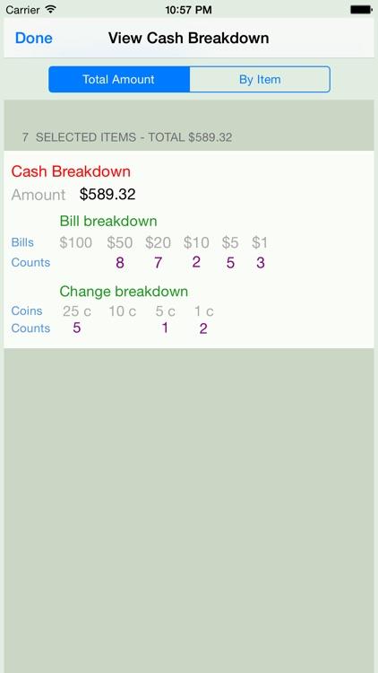 Cash Breakdown