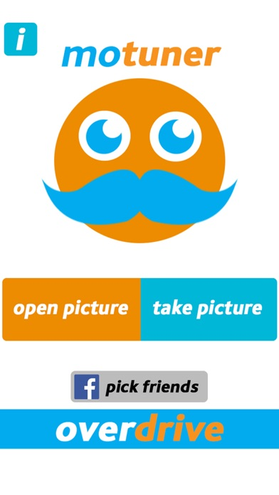 Screenshot #1 for MoTuner Photo Editor - Fast way to superimpose a mustache to your face!