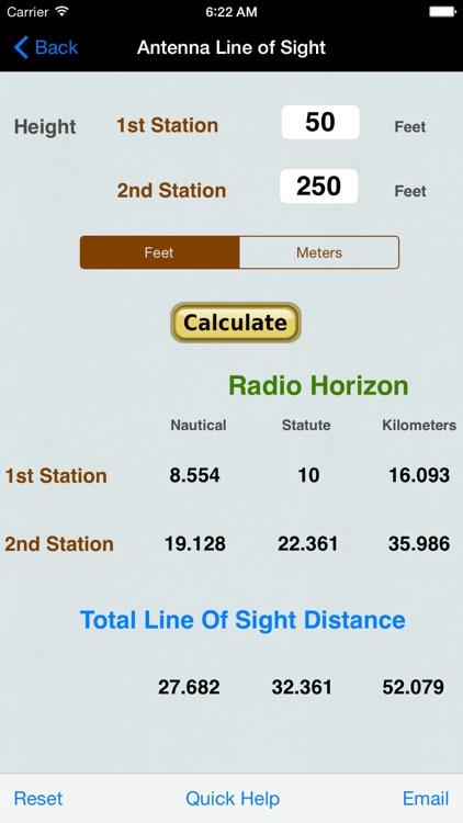 VHF/UHF Antenna Line of Sight