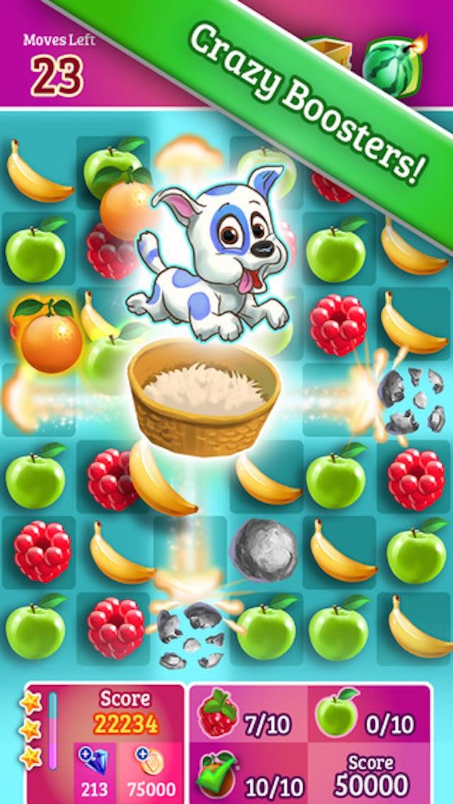 Juicy Fruit - 3 match puzzle yummy blast mania gameのおすすめ画像3