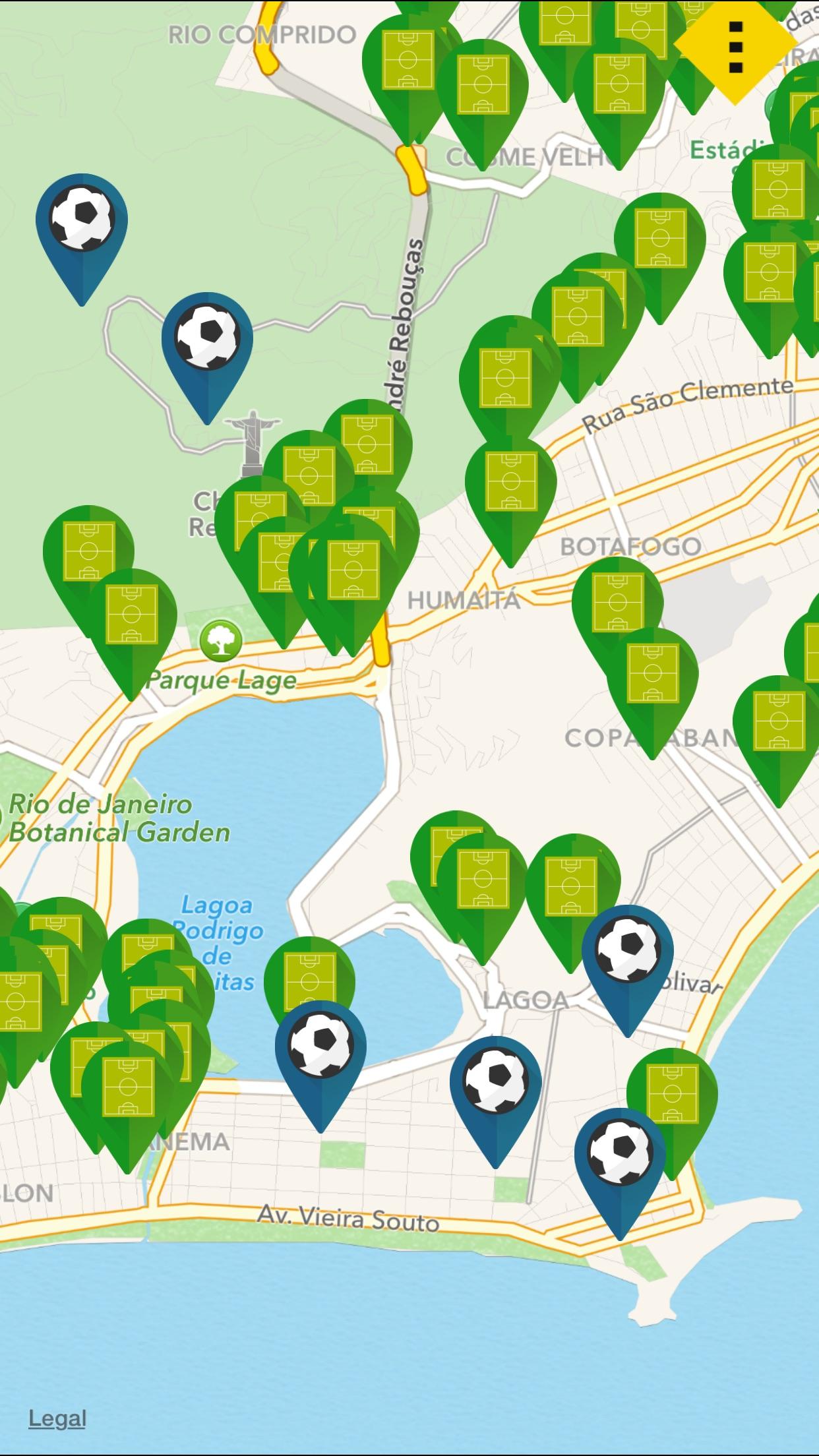 Screenshot do app Futebol na Praça