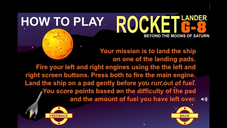 Rocket Lander G-8: Beyond the Moons of Saturn screenshot-3