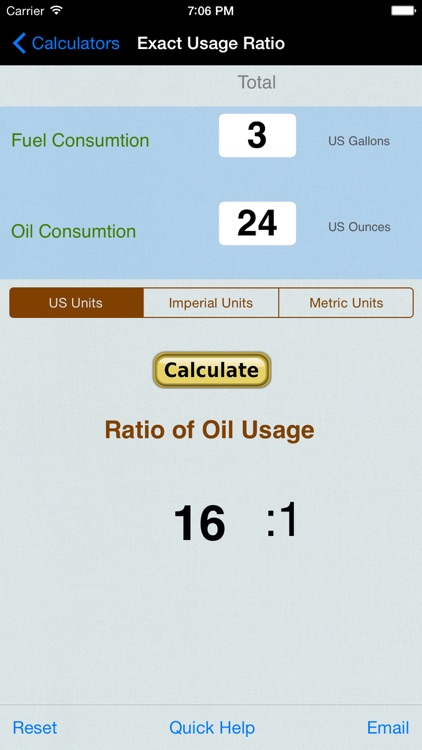 Gas Oil Mixture Ratio