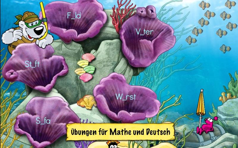Deutsch und Mathe 2. Klasse: Emil und Pauline in der Tiefsee - Rechnen und Lesen für die Grundschule screenshot 2