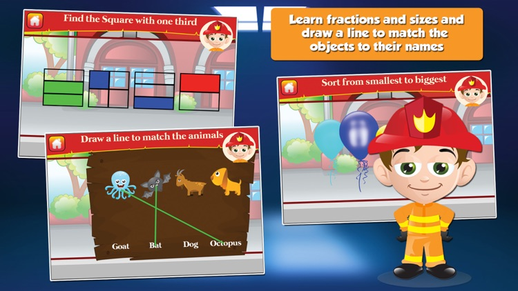 Fire Fighter Kid Goes to School: First Grade Learning Games screenshot-3
