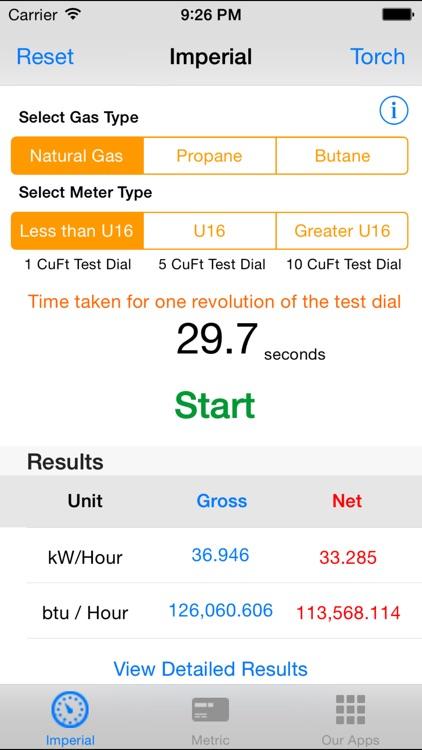 Gas Rate Calculator