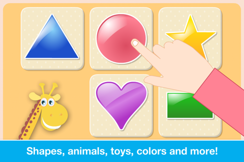 Baby First Words. Matching Educational Puzzle Games for Toddlers and Preschool Kids by Abby Monkey® Learning Clubhouse screenshot 3