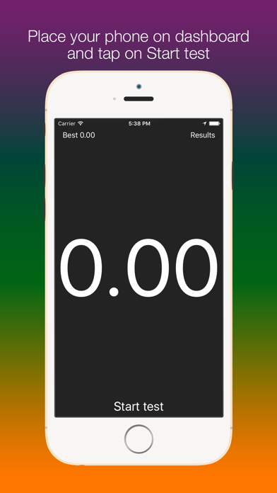 Screenshot #1 pour SpeedUp - Acceleration test 0-100 kmh 0-60 mph