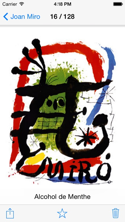 Joan Miró 128 Paintings HD Ad-free (Joan Miro) screenshot-2
