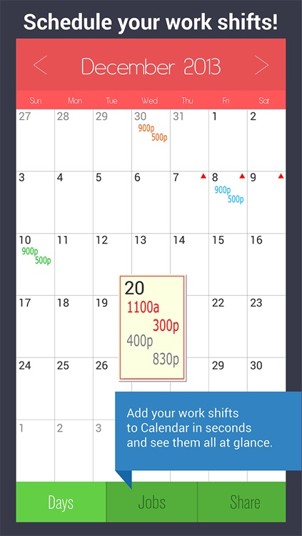 Shift Calendar Pro - Work Schedule Organizer with Hour & Pay Calculator screenshot-0