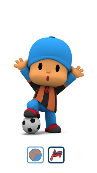 Talking Pocoyo Football FreeCaptura de pantalla de1