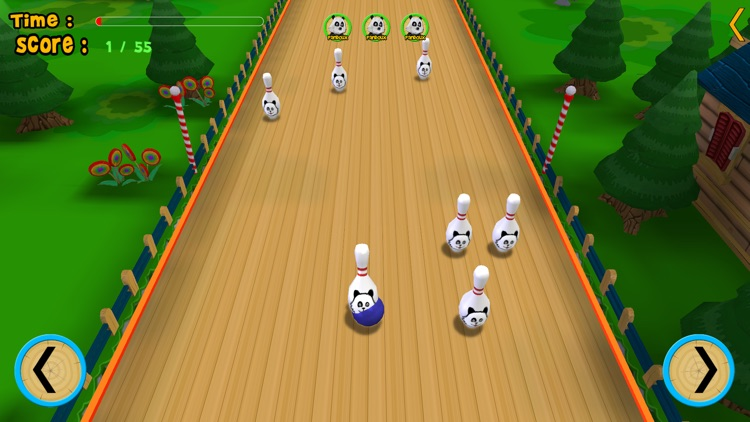 pandoux crazy bowling for kids - free game