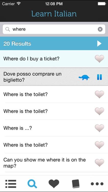 Learn Italian HD - Phrasebook for Travel in Italy screenshot-3