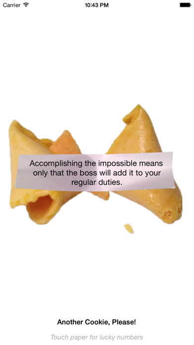 Fortune Cookie Wisdom screenshot two