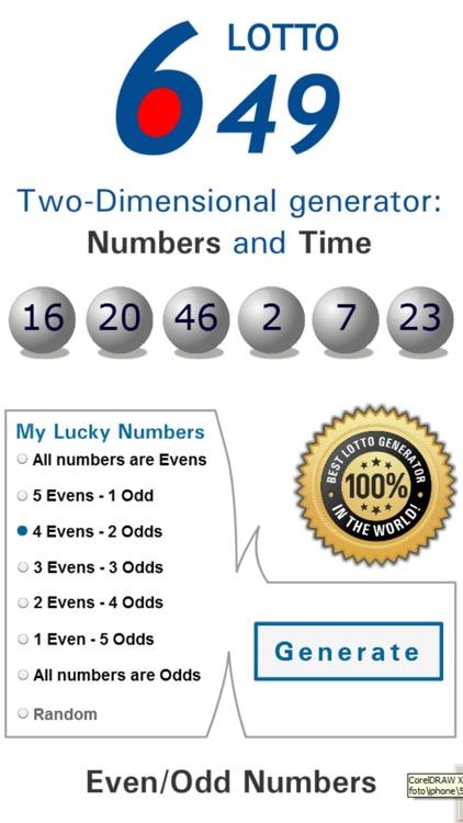 Lotto Winner for Canada 649