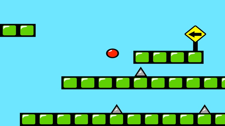 Red Bouncing Ball Spikes Free screenshot-1