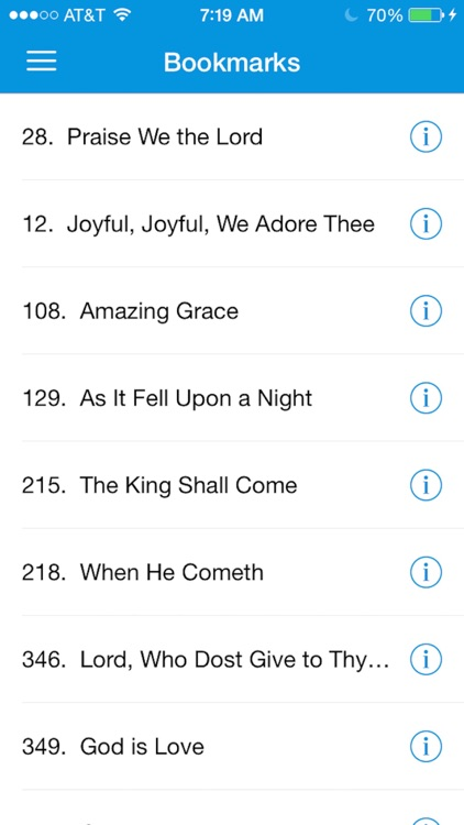 Adventist Hymnal - Complete Hymns for iPhone, iPod, iPad screenshot-4
