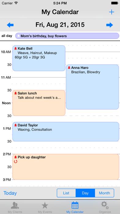 My Book of Clients Salon screenshot