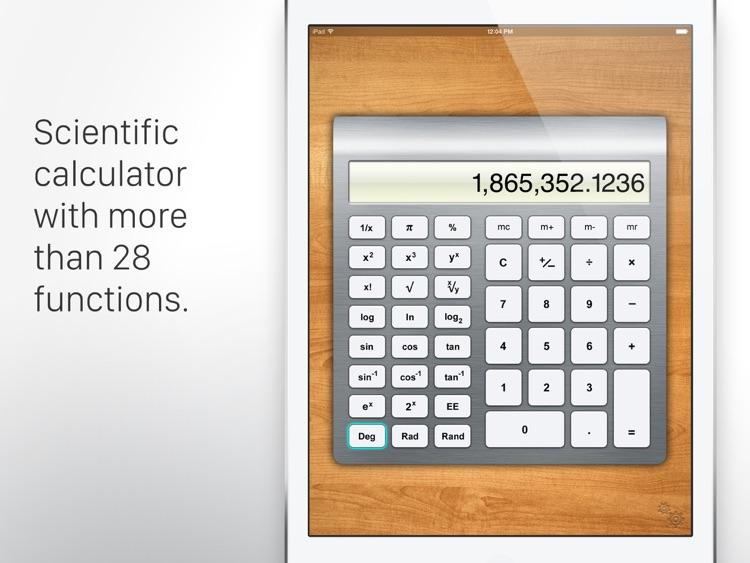 Calculator HD for iPad screenshot-3