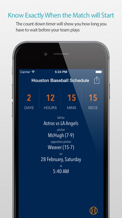 Houston Baseball Schedule Pro — News, live commentary, standings and more for your team!