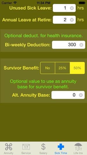fedcalc fers and csrs annuity calculator on the app store