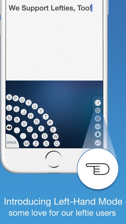 Handy - The One-Hand Keyboard for iPhone 6 and 6 Plus Quick & Easy 1 Handed Typing