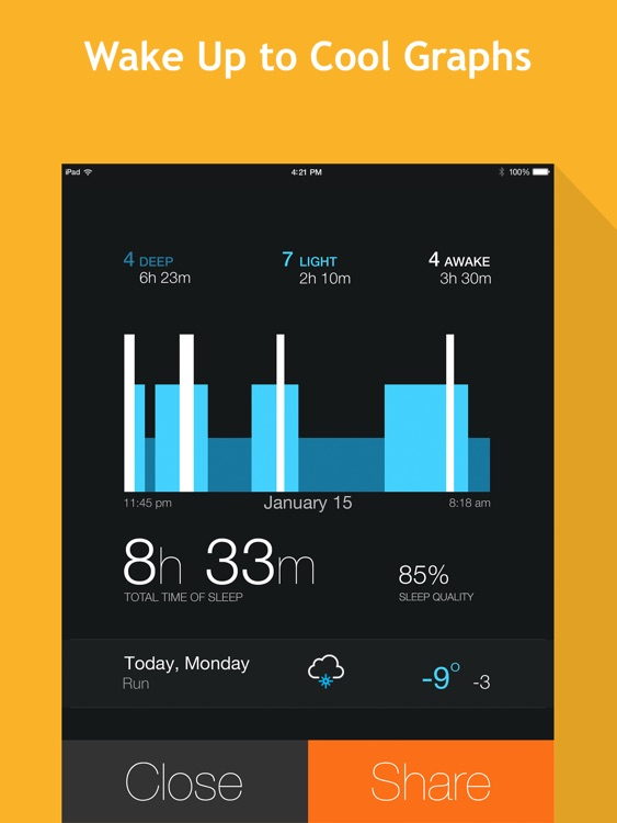 Smart Alarm Clock HD: sleep cycles and night sounds recording